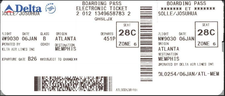 WARNING – don't throw away your boarding pass!