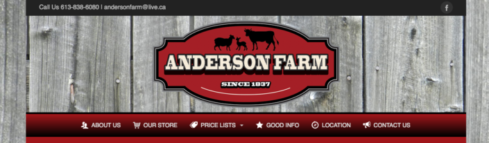 """""""Meating"""" Their Objective – Anderson Farm's New Website"""
