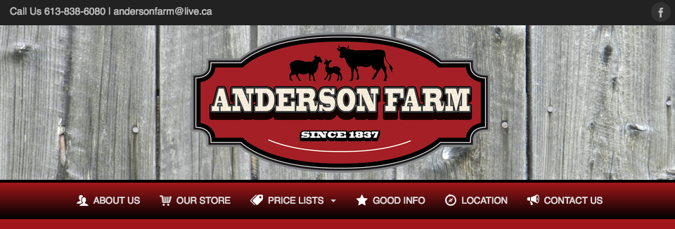 """Meating"" Their Objective – Anderson Farm's New Website"