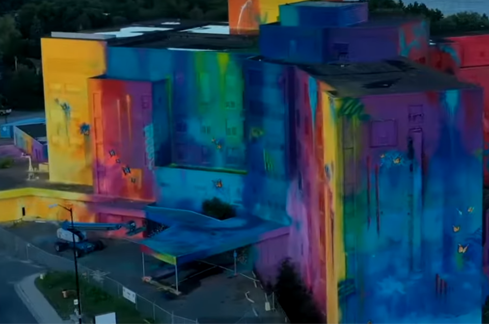 Watch Canada's largest mural happen before your eyes!